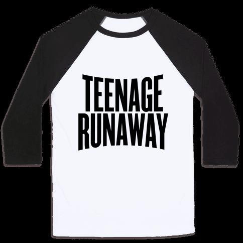 Teenage Runaway Baseball Tee