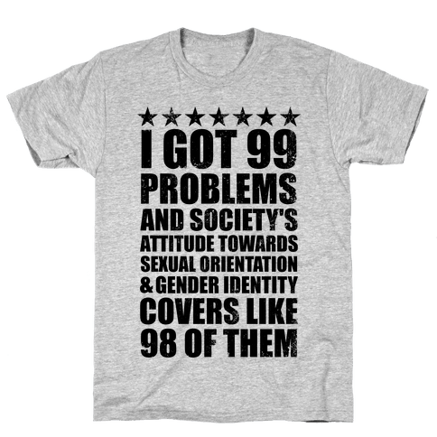 99 Problems (LGBT+) Stars Mens T-Shirt