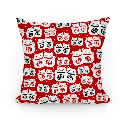 Lucky Cat Pattern Pillow