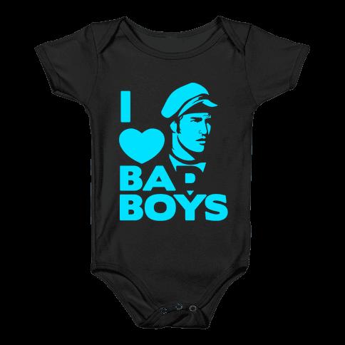 I Love Bad Boys Baby Onesy