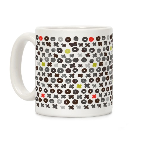 XOXO Hugs and Kisses Pattern Coffee Mug