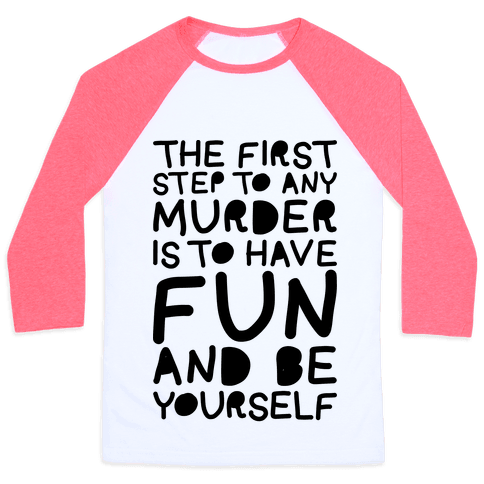Murder Fun Baseball Tee