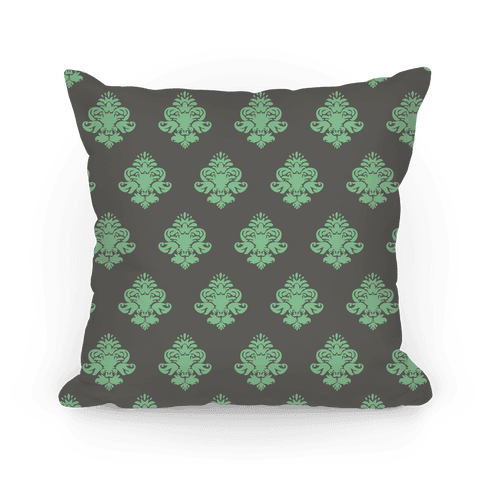 Mint & Grey Pattern Pillow Pillow