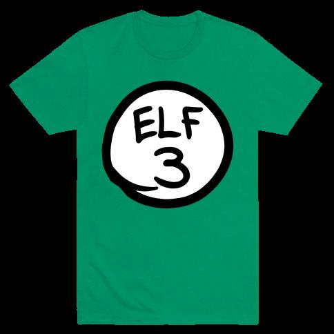 Elf Three Mens T-Shirt