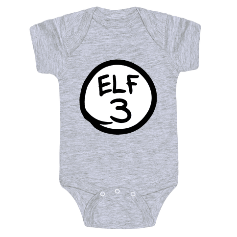 Elf Three Baby Onesy