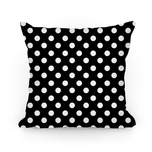 Small Polka Dot Pillow (black and white) Pillow