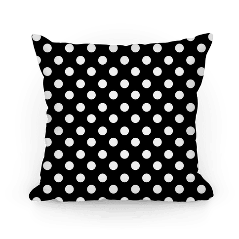 Small Polka Dot Pillow (black and white) Pillow