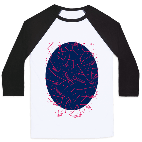 Constellation Star Pattern Baseball Tee