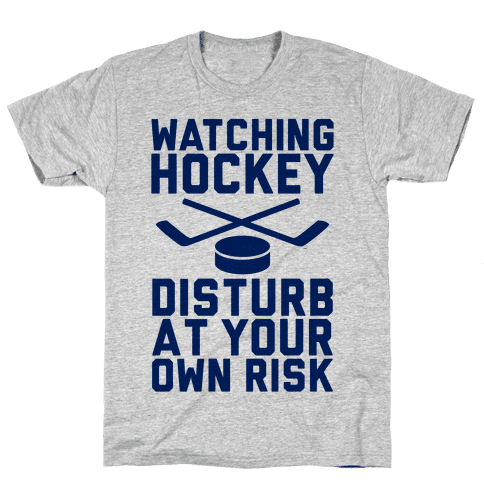 Watching Hockey Mens T-Shirt