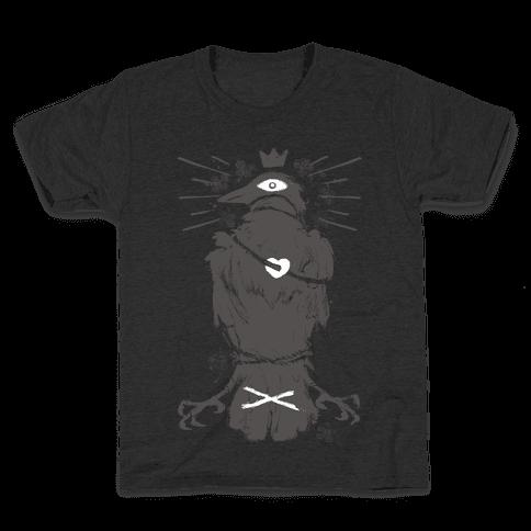 Strange Bird In Love Kids T-Shirt