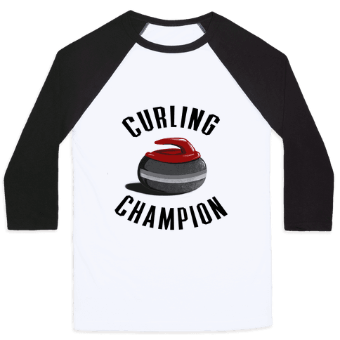 Curling Champion Baseball Tee