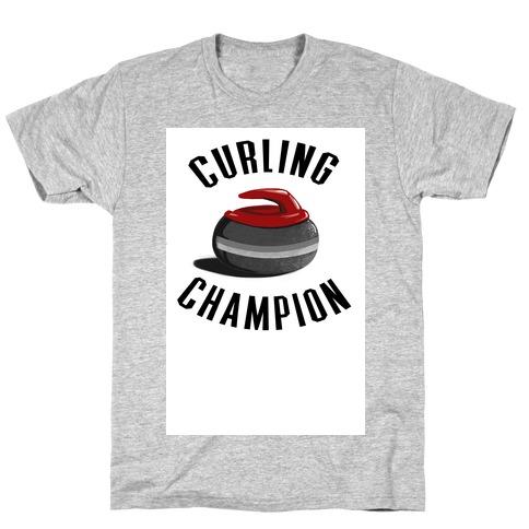 Curling Champion Mens T-Shirt