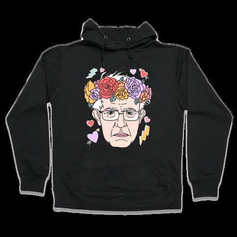 Bernie With Flower Crown Hooded Sweatshirt