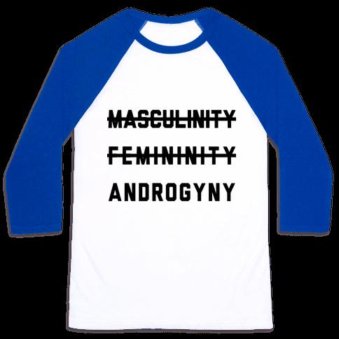 Masculinity Femininity Androgyny Baseball Tee