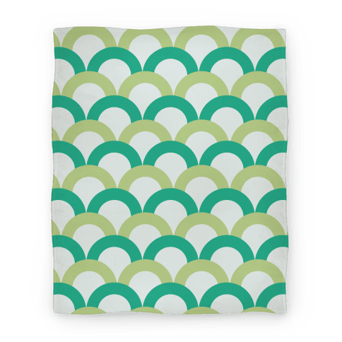 Green Scale Pattern Blanket