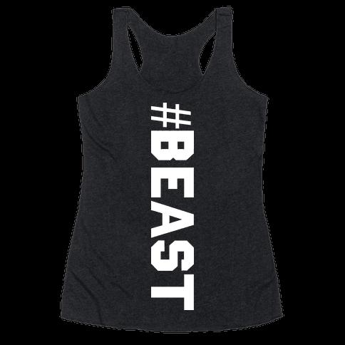 Hashtag Beast Racerback Tank Top
