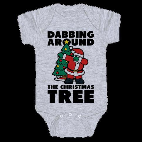 Dabbing Around the Christmas Tree Baby Onesy