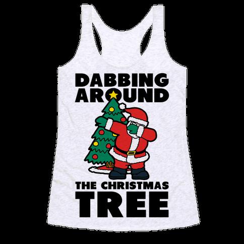 Dabbing Around the Christmas Tree Racerback Tank Top