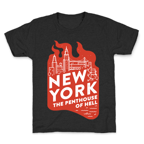 New York The Penthouse Of Hell Kids T-Shirt