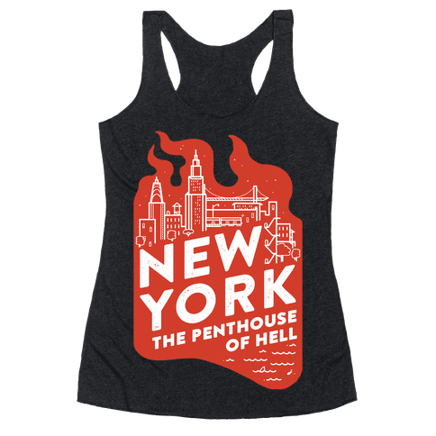 New York The Penthouse Of Hell Racerback Tank Top
