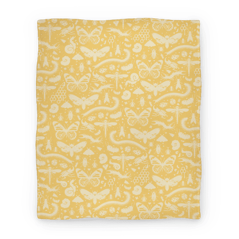 Insect Silhouette Pattern Blanket