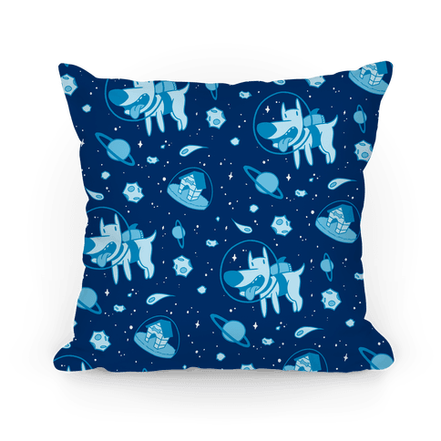 Blast Off Space Dog Pillow