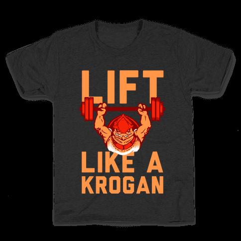Lift Like a Krogan Kids T-Shirt