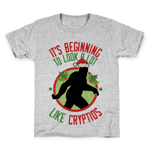 It's Beginning To Look A Lot Like Cryptids (Bigfoot) Kids T-Shirt