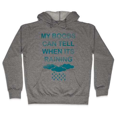 My Boobs Can Tell When It's Raining Hooded Sweatshirt