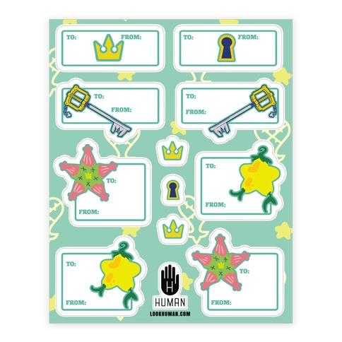 Destiny Island Gift Tags Sticker/Decal Sheet