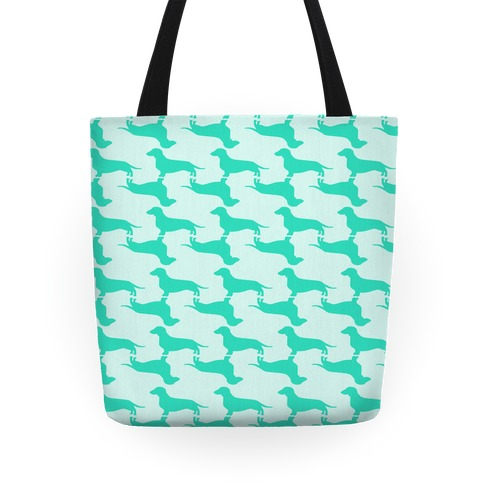 Wiener Dog Pattern Tote