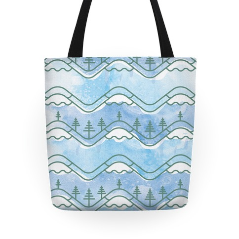 Watercolor Mountains Tote