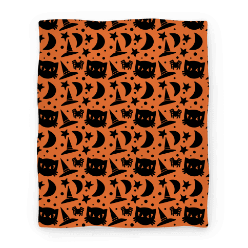 Witchy Halloween Pattern Blanket