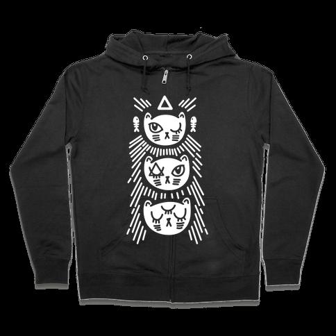 Occult Kitties Zip Hoodie