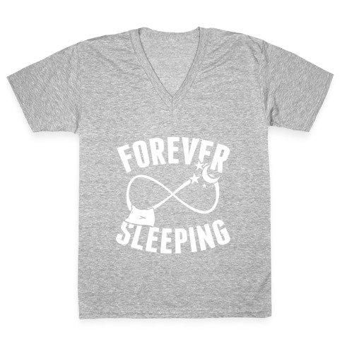 Forever Sleeping V-Neck Tee Shirt