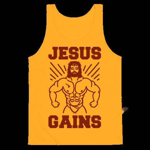 Jesus Gains Tank Top