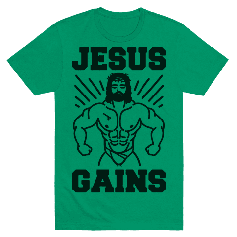 Jesus Gains Mens T-Shirt
