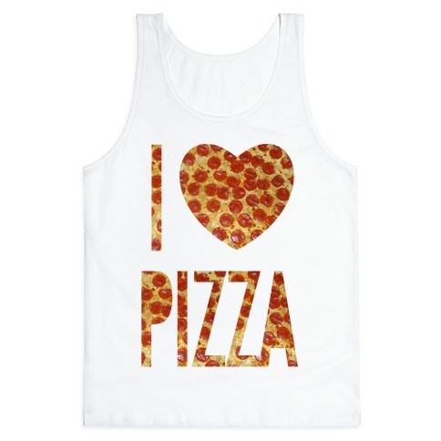 I Heart Pizza Tank Top