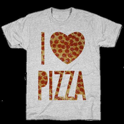 I Heart Pizza Mens T-Shirt