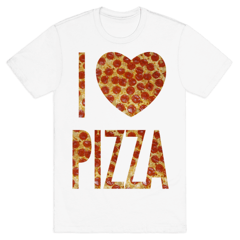 I Heart Pizza Mens T-Shirt