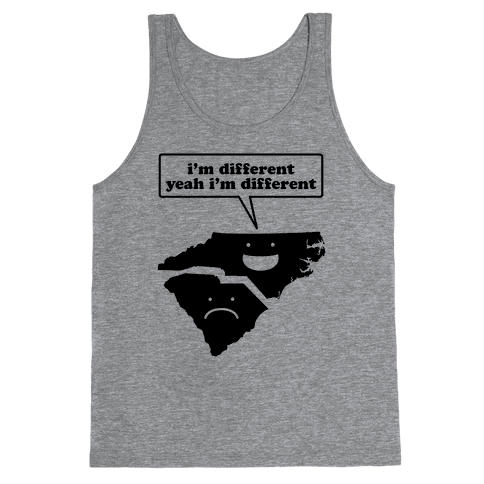 North Carolina: I'm Different Tank Top