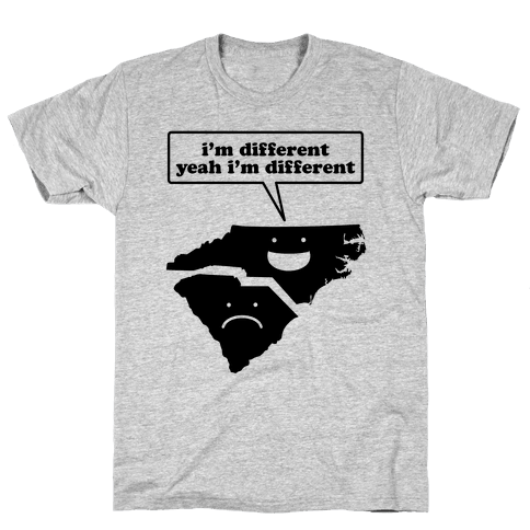 North Carolina: I'm Different Mens T-Shirt