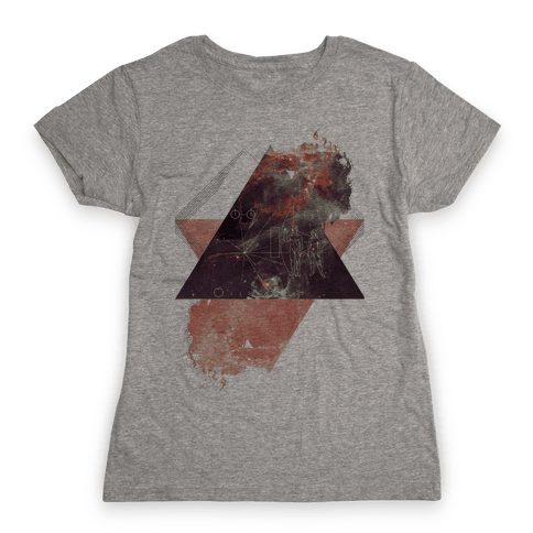 Pioneer Plaque Womens T-Shirt