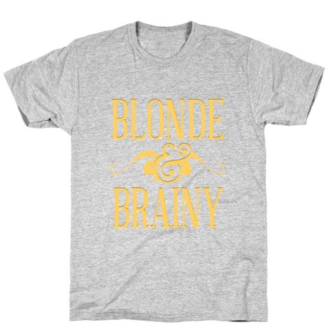 Blonde and Brainy (Dark Tank) T-Shirt