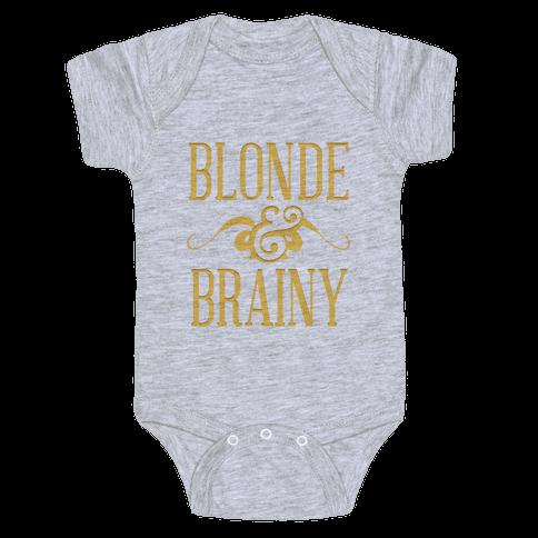 Blonde and Brainy (Dark Tank) Baby Onesy