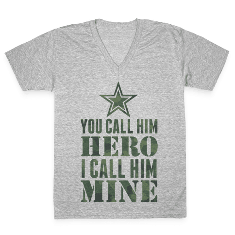 You Call Him Hero V-Neck Tee Shirt