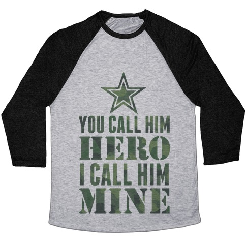 You Call Him Hero Baseball Tee