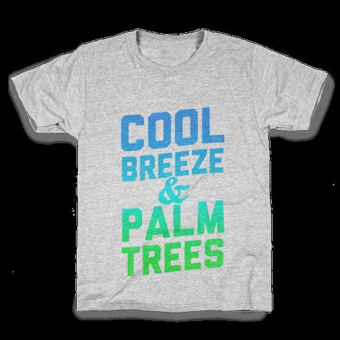 Cool Breeze & Palm Trees Kids T-Shirt