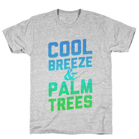 Cool Breeze & Palm Trees Mens T-Shirt