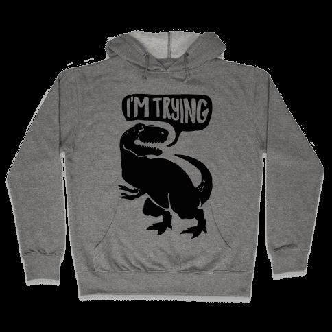 Hug Me Dinosaur (Part Two) Hooded Sweatshirt